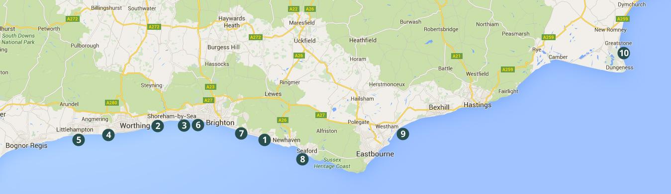BN1 Kitesurfing locations