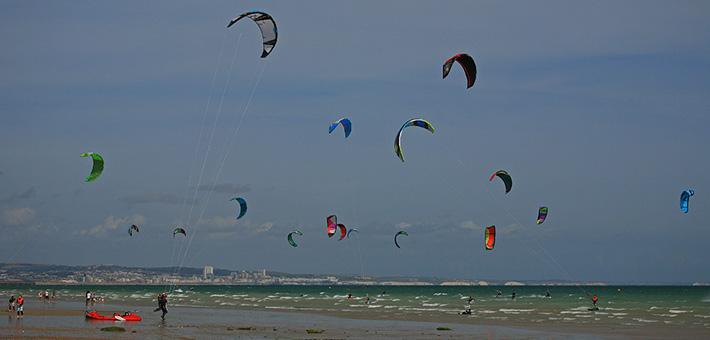 Lancing Beach Kitesurfing